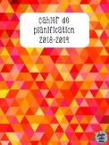 Cahier de planification 2018-2019 - Orangé