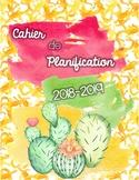Cahier de planification 2018-2019 - cactus