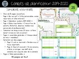 """Cahier de planification 2019-2020 - Modèle """"Simplicité volontaire"""""""