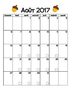 Cahier de planification 2017-2018 (Aims de la forêt) [Planbook - FRENCH]