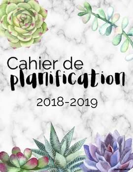 Cahier de planification ''créatif'' 2017-2018