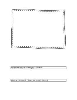 Cahier de préparation pour composition d'une bande dessinée