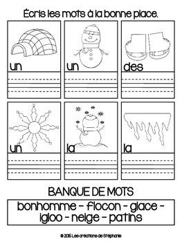 Cahier de temps libre : L'hiver