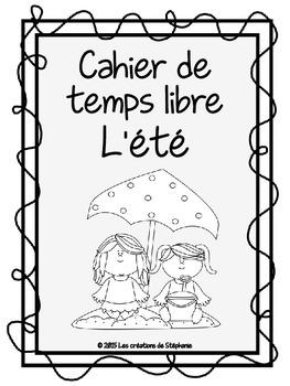 Cahier de temps libre : L'été