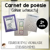 Cahier interactif de poésie - French poetry notebook