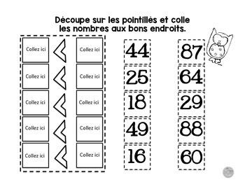 Cahier interactif sur les nombres de 1 à 100 (à imprimer-printable)