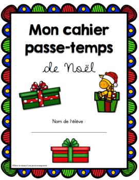 Cahier passe-temps de Noël