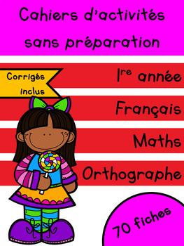 Cahiers français et maths - Février - 1re année