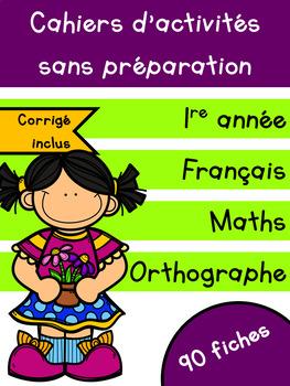 Cahiers français et maths - Mai - 1re année