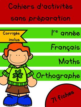 Cahiers français et maths - Mars - 1re année