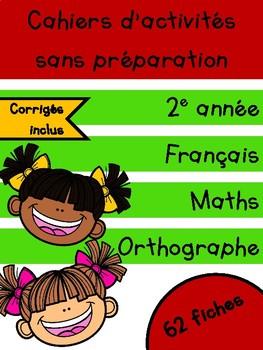 Cahiers français et maths - Septembre - 2e année