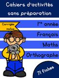 Cahiers français et maths - Novembre - 1re année