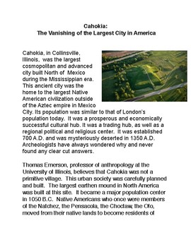 Cahokia: The Vanishing of the Largest City in America