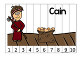 Cain and Abel 1-10 Sequence Puzzle printable game. Preschool Bible Study Curricl
