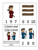 Cain and Abel Count and Clip printable game. Preschool Bible Study Curriculum