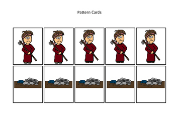 Cain and Abel Pattern Cards printable game. Preschool Bible Study Curriculum