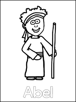 Cain and Abel Printable Color Sheets. Preschool Bible Study Curriculum.