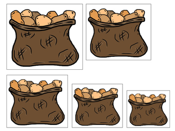 Cain and Abel Size Sequence printable game. Preschool Bible Study Curriculum