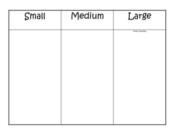 Cain and Abel Size Sorting printable game. Preschool Bible Study Curriculum
