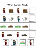 Cain and Abel What Comes Next printable game. Preschool Bible Study Curriculum