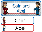 Cain and Abel Word Wall Bulletin Board Set. Preschool Bible Curriculum.