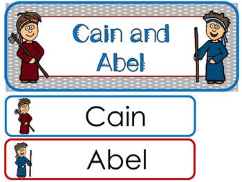Cain and Abel Word Wall Bulletin Board Set. Preschool Bible Curriculum.