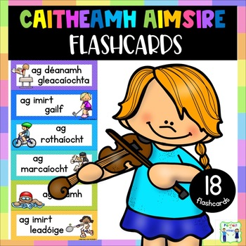 Caitheamh Aimsire Flashcards with pictures - Gaeilge - Hobbies