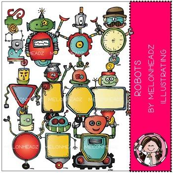 Melonheadz: Robots clip art - COMBO PACK