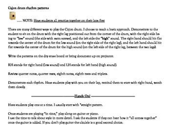 Cajon Drum Patterns lesson