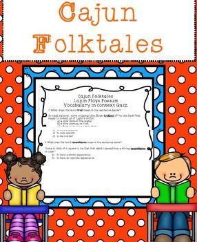 Cajun Folktales Vocabulary Lapin Plays Possum (from: Lapin Plays Possum)