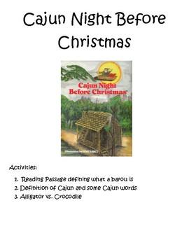 cajun night before christmas by jamie thomas teachers pay teachers - Cajun Night Before Christmas