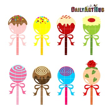 Cake Ball Pops Clip Art - Great for Art Class Projects!