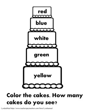 Cake Color 1- Reading Colors