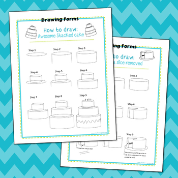 How to Draw: Cake Printables (Freebie)