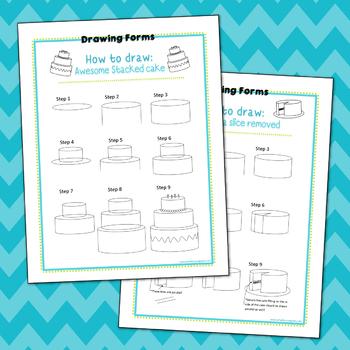 How to Draw: Cake Printables (Freebie)