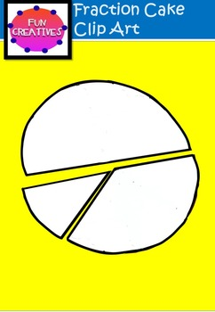 Cake Fractions Clip Art