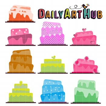 Cake Mania Clip Art - Great for Art Class Projects!