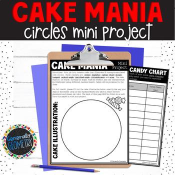 Cake Mania Mini Project; Parts of a Circle