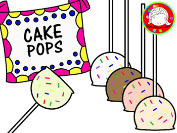 Cake Pops Clipart (Personal & Commercial Use)