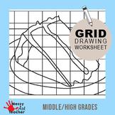 Cake Slice Grid Drawing Worksheet for Middle/High Grades