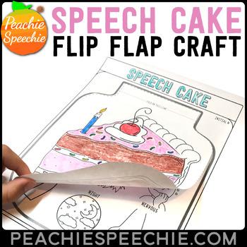 Cake Speech and Language Flip Flap Craft