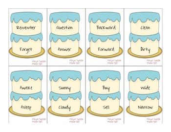 Speech Therapy: Cake Tier Vocabulary Game