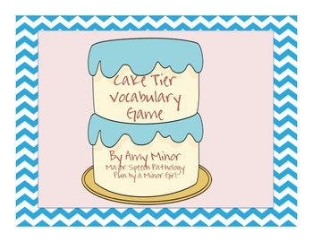 Speech Therapy: Cake Tier Vocabulary Game
