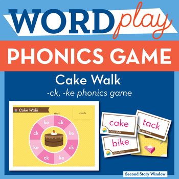 Cake Walk Sounds of K Phonics Game - Words Their Way Game