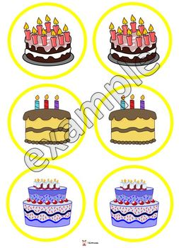 Cake memory game
