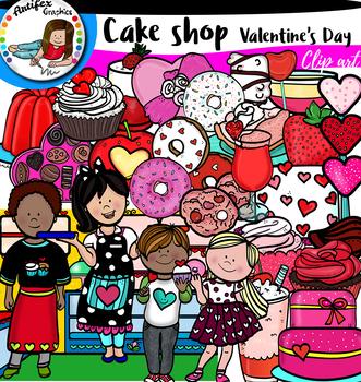 Cake shop -Valentine's Day clip art