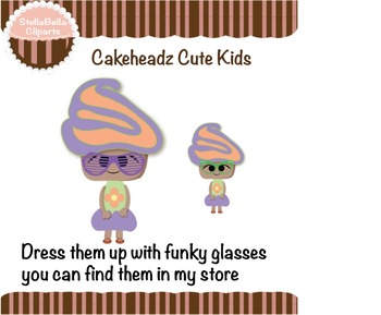 Cakeheadz Cute Kids Clipart - Flower Girls