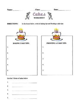 Cakes Lesson