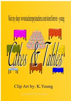Cakes & Tables Clip Art