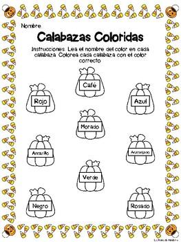 Calabazas Coloridas - Halloween Pumpkin Color Practice